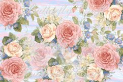 Pastel Flowers Digital Paper, Flower digital paper Product Image 2