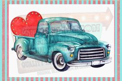 Valentines Truck Sublimation Digital Download Product Image 1