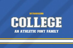 College Font Family Product Image 1
