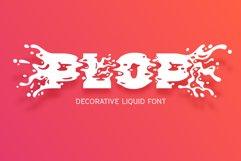 Plop liquid font Product Image 1