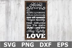 In This Home - A Family SVG Cut File Product Image 1