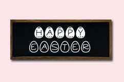 Web Font Easter Candy, a cute easter egg font in two styles Product Image 4