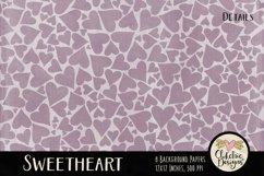 Shabby Damask Sweetheart Background Textures Product Image 4