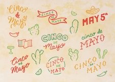 Cinco De Mayo Lettering Pack Product Image 2