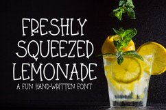 Freshly Squeezed Lemonade - A Fun Hand-Written Font Product Image 1