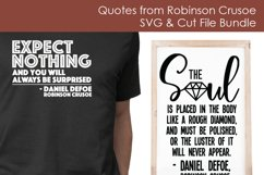 Quotes from Robinson Crusoe - SVG and Cut Files for Crafters Product Image 2