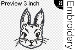 Applique Rabbit - Embroidery Files - 1487e Product Image 2