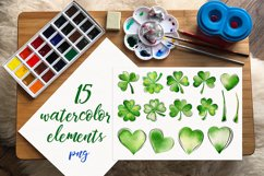 Clover. Watercolor set. PNG, JPG Product Image 2