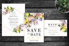 Colorful Daisy Flower Wedding Invitation Set Product Image 2