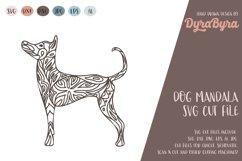 Dog Mandala SVG / Dog SVG / Zentangle SVG / Boho SVG Product Image 1