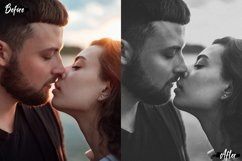 6 Photoshop Actions, ACR and LUT Preset Black Fade Theme Product Image 1