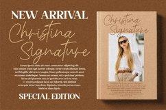 Christina Signature - Monoline Signature Font Product Image 15