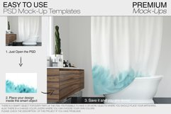 Bath Curtain Mockup Pack Product Image 5