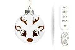 Christmas SVG - Cute Reindeers SVG Chris Bundle Product Image 3