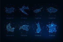 Europe countries futuristic maps. Product Image 6