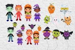 Halloween Balloons clipart. Digital Halloween Balloon Product Image 3