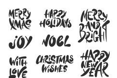 Winter holidays hand drawn art set Product Image 2