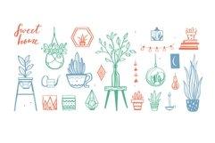 Home Plants in pots , gardening SVG bundle Product Image 5