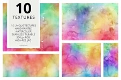 10 Huge Seamless Rainbow Watercolor Textures Product Image 2