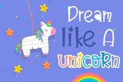 Believe in unicorn Handwriting- cute kid font Kawaii style! Product Image 4