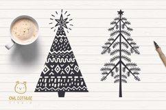 Scandinavian Style X-mas Trees SVG Bundle, Christmas Decor Product Image 2