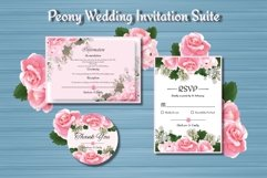 Peony Floral Wedding Invitation Suite Product Image 4
