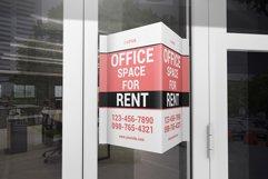 Window V-Signs Board Mockup Product Image 1