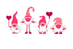 Valentine gnomes in mask kiss and hug you Product Image 2