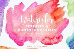 Vector & JPG Watercolor Textures & Photoshop Effect Styles Product Image 4