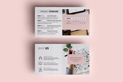 PPT Template | Project Proposal - Pink and Marble Round Product Image 8