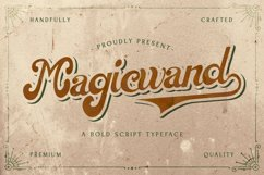 Magic Wand - Bold Script Font Product Image 1