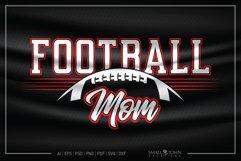 Football, Proud Football Mom, Football SVG, Football Mom SVG Product Image 1