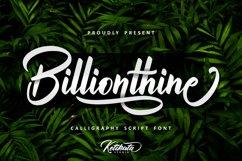 Billionthine Calligraphy Script Product Image 1