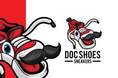 Sneaker Shop Mascot Logo Template Product Image 1