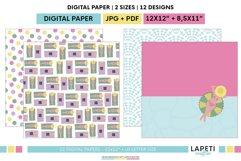 Summer digital scrapbbok papers | Pool decorative wallpaper Product Image 3