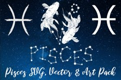 Pisces Zodiac, Constellation, Horoscope, Celestial Pack Product Image 1