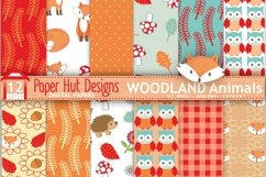 Woodland Animals Digital Papers Product Image 1