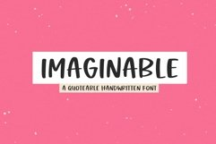 Web Font Imaginable - A Casual Handwritten Font Product Image 1