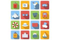 Travel flat icons set Product Image 1