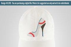Baseball Softball High Heel Shoe SVG DXF LL111C Product Image 2