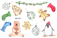 Christmas time. Watercolor elements Product Image 5
