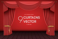 9 Vector Curtains Backgrounds Product Image 1
