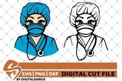 2x Black Nurse Bundle svg, Nurse Stethoscope svg, Surgeon Product Image 1