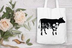 Floral Cow SVG, Flower Cow SVG Cut File, Floral Cow Clipart. Product Image 6