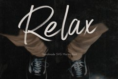 Relax SVG Marker Script Font Product Image 1
