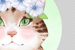 Watercolor cat in wreath Product Image 2