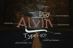 Alvin Duo - 5 Font styles and 150plus Swashes Product Image 3