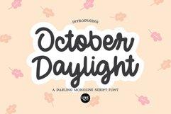 OCTOBER DAYLIGHT a Bold Script Hand written Font Product Image 1