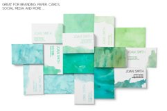17 Huge Seamless Green Watercolor Textures Product Image 6