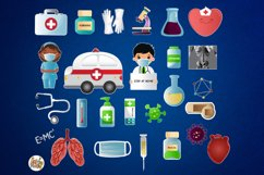 Healthcare Clipart, Medical clipart, Stay Home Clip Art Product Image 2